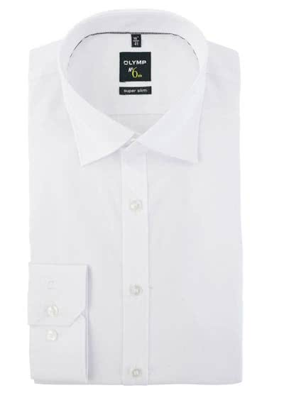 OLYMP No. Six super slim Hemd Langarm Under-Button-Down weiß preisreduziert