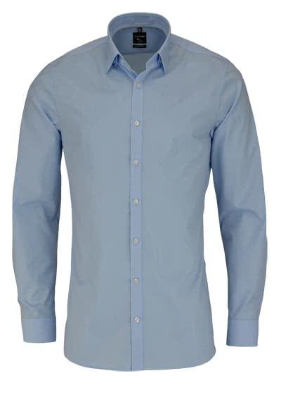 OLYMP No. Six super slim Hemd Langarm Under-Button-Down hellblau - Hemden Meister