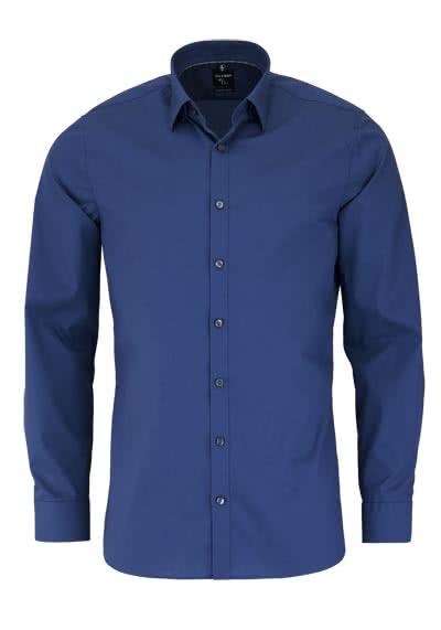 OLYMP No. Six super slim Hemd Langarm Under-Button-Down rauchblau - Hemden Meister