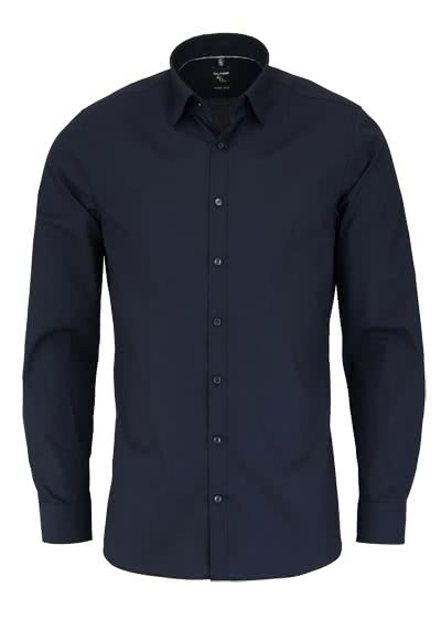 OLYMP No. Six super slim Hemd Langarm Under-Button-Down schwarz - Hemden Meister