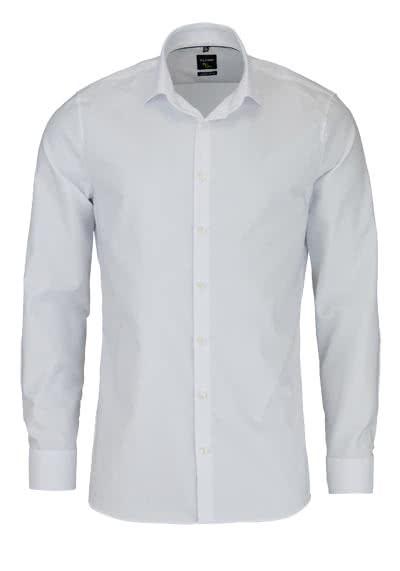 OLYMP No. Six super slim Hemd Langarm Streifen weiß - Hemden Meister