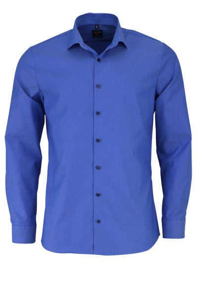 OLYMP No. Six super slim Hemd Langarm Streifen dunkelblau - Hemden Meister