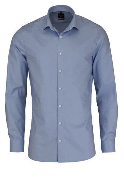 OLYMP No. Six super slim Hemd Langarm Streifen hellblau - Hemden Meister
