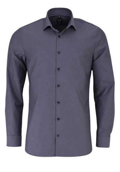 OLYMP No. Six super slim Hemd Langarm Streifen schwarz - Hemden Meister
