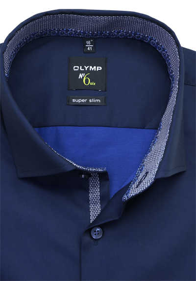 OLYMP No. Six super slim Hemd extra langer Arm nachtblau