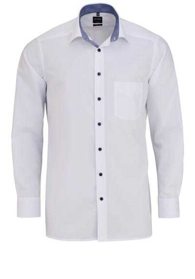 OLYMP Luxor modern fit Hemd Langarm mit Brusttasche weiß - Hemden Meister