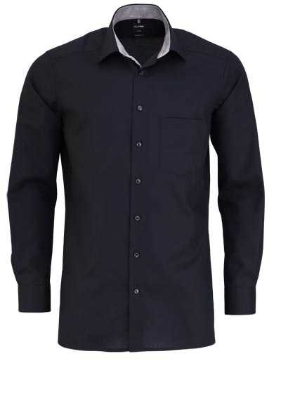OLYMP Luxor modern fit Hemd Langarm mit Brusttasche schwarz - Hemden Meister