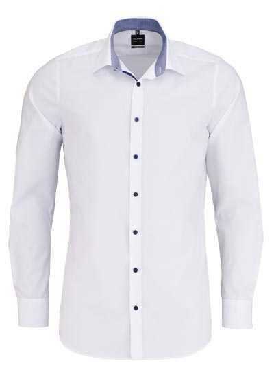 OLYMP Level Five body fit Hemd Langarm Stretch bügelleicht weiß - Hemden Meister