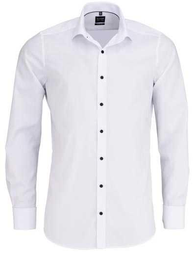 OLYMP Level 5 body fit Hemd Langarm Umschlagmanschette Stretch weiß - Hemden Meister