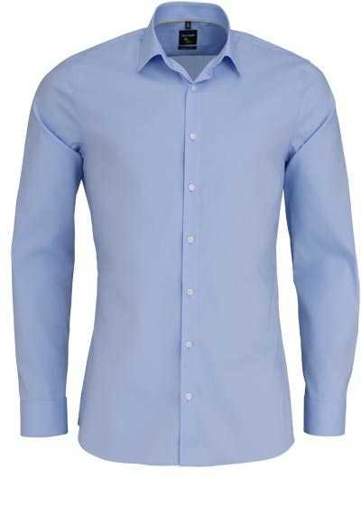 OLYMP No. Six super slim Hemd Langarm Stretch bügelleicht hellblau - Hemden Meister