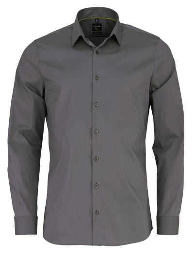 OLYMP No. Six super slim Hemd Langarm Stretch bügelleicht moos - Hemden Meister