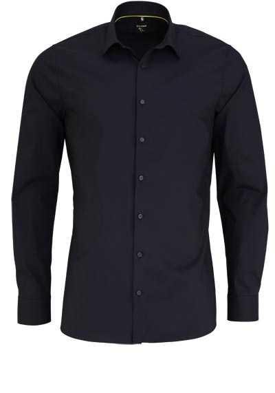 OLYMP No. Six super slim Hemd Langarm Stretch bügelleicht schwarz - Hemden Meister