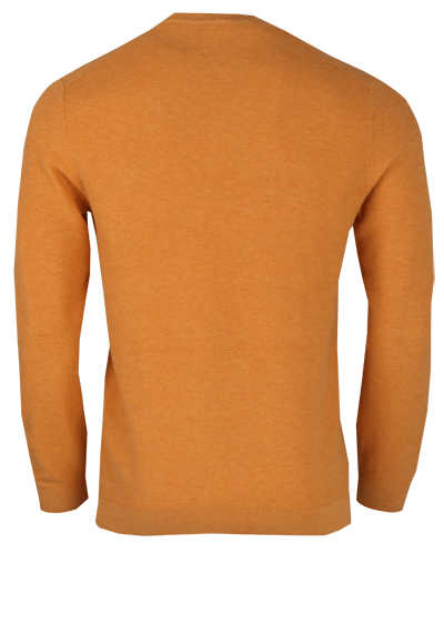 OLYMP Level Five Strick body fit Pullover Rundhals apricot