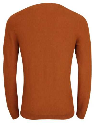 OLYMP Level Five Strick body fit Pullover Rundhals terracotta