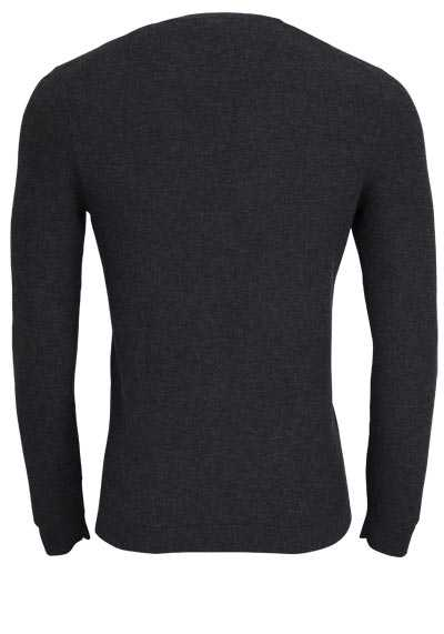 OLYMP Level Five Strick body fit Pullover Rundhals anthrazit