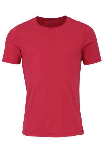 OLYMP Level Five T-Shirt Halbarm Rundhals Stretch mittelrot - Hemden Meister