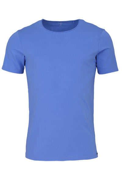 OLYMP Level Five T-Shirt Halbarm Rundhals Stretch türkis - Hemden Meister