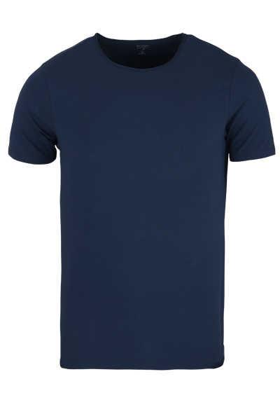 OLYMP Level Five T-Shirt Halbarm Rundhals Stretch petrol - Hemden Meister