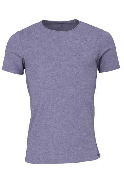 OLYMP Level Five T-Shirt Halbarm Rundhals Stretch mittelblau - Hemden Meister