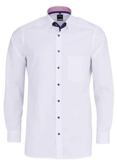 OLYMP Luxor modern fit Hemd extra langer Arm Popeline weiß - Hemden Meister