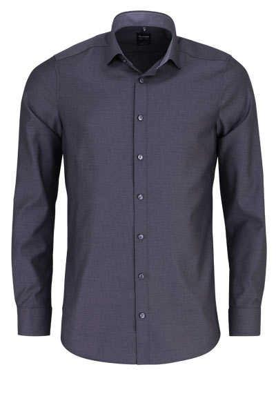 OLYMP Level Five body fit Hemd Langarm Muster schwarz - Hemden Meister