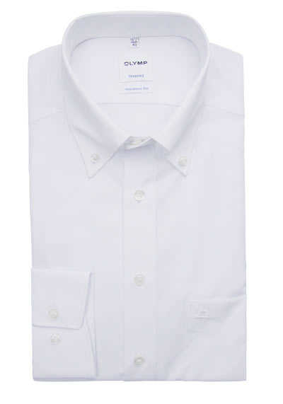 OLYMP Tendenz modern fit Hemd Langarm Button Down Kragen weiß