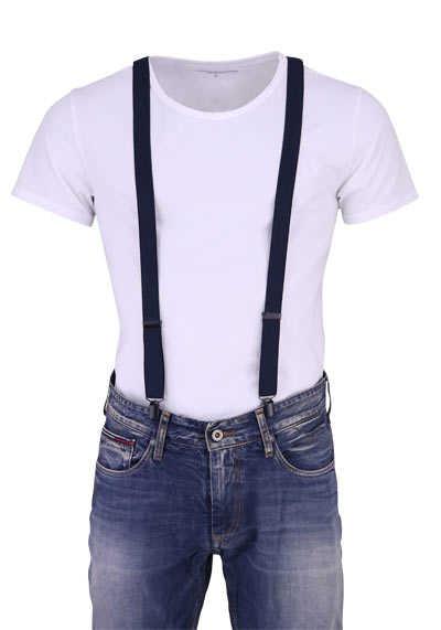 OLYMP Hosenträger 2,5 cm breit 3 Clip Stretch nachtblau - Hemden Meister
