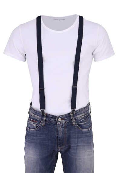 OLYMP Hosenträger 2,5 cm breit 3 Clip Stretch schwarz - Hemden Meister
