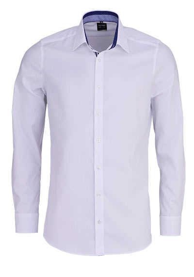 OLYMP Level Five body fit Hemd extra langer Arm Struktur weiß - Hemden Meister