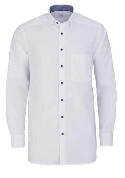 OLYMP Luxor comfort fit Hemd Langarm Under Button Down Kragen weiß - Hemden Meister