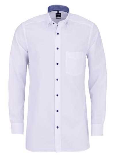 OLYMP Luxor modern fit Hemd Langarm Under Button Down Kragen weiß - Hemden Meister
