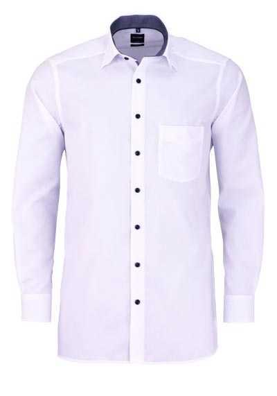 OLYMP Luxor modern fit Hemd extra langer Arm Kombimanschette weiß - Hemden Meister