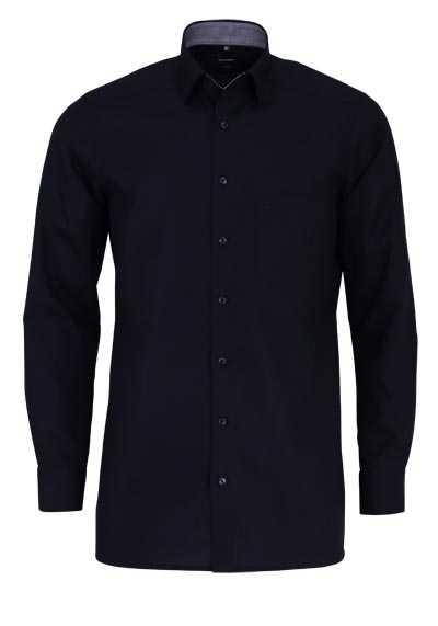 OLYMP Luxor modern fit Hemd Langarm Under Button Down Kragen schwarz - Hemden Meister