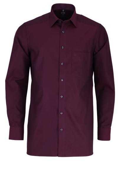 OLYMP Luxor modern fit Hemd extra langer Arm Muster rot - Hemden Meister