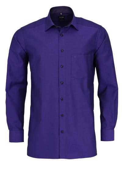 OLYMP Luxor modern fit Hemd extra langer Arm Muster lila - Hemden Meister