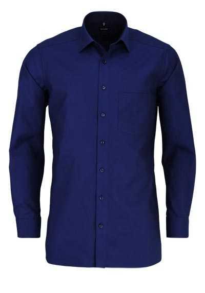 OLYMP Luxor modern fit Hemd extra langer Arm Muster blau - Hemden Meister