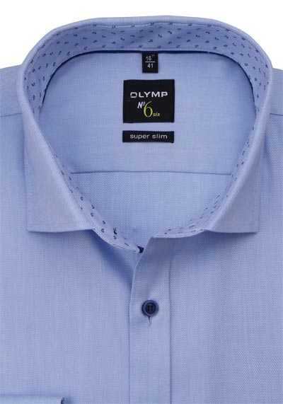 OLYMP No. Six super slim Hemd extra langer Arm hellblau