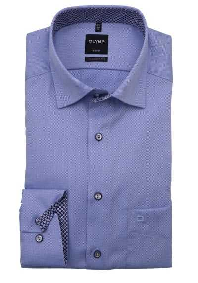 OLYMP Luxor modern fit Hemd Langarm Under Button Down Kragen hellblau