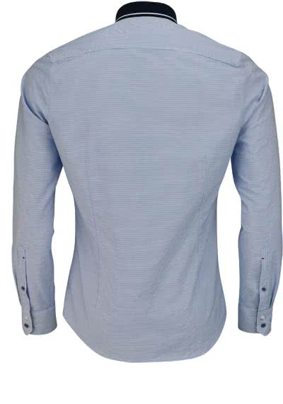 OLYMP Level Five Casual body fit Hemd Langarm Ringel blau