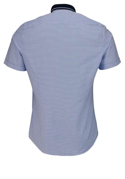 OLYMP Level Five Casual body fit Hemd Halbarm Ringel blau