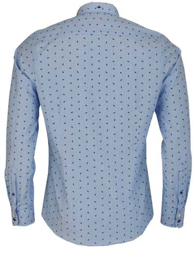 OLYMP Level Five Casual body fit Hemd Langarm Muster blau