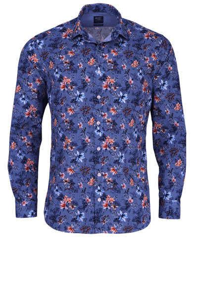 OLYMP Casual modern fit Hemd Langarm New Kent Kragen Karo blau - Hemden Meister