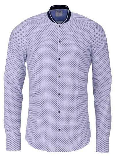 Das OLYMP Level Five body fit Hemd Langarm Muster weiß - Hemden Meister