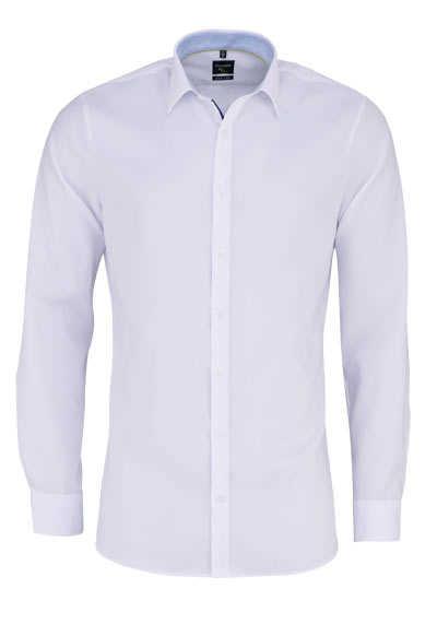 OLYMP No. Six super slim Hemd extra langer Arm Struktur weiß - Hemden Meister