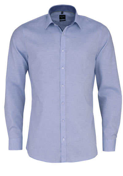 OLYMP No. Six super slim Hemd extra langer Arm Struktur hellblau - Hemden Meister