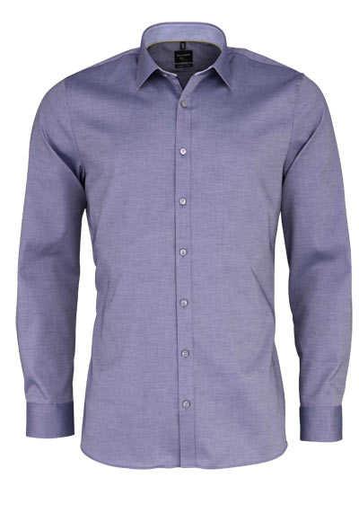 OLYMP No. Six super slim Hemd extra langer Arm Struktur rauchblau - Hemden Meister
