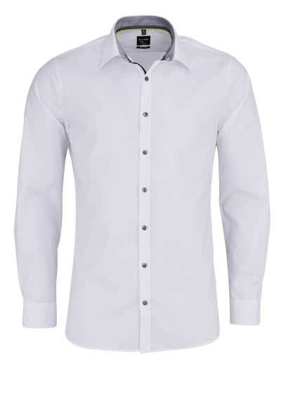 OLYMP No. Six super slim Hemd extra langer Arm New Kent Kragen weiß - Hemden Meister