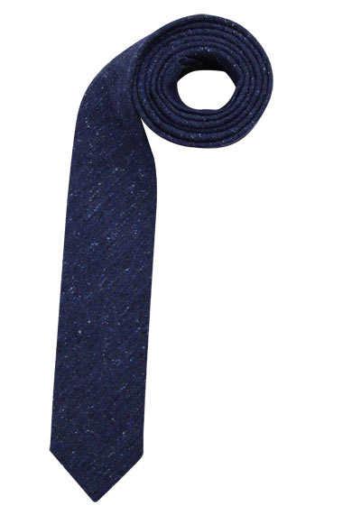 OLYMP Krawatte slim mit erhöhtem Fleckschutz Muster blau - Hemden Meister