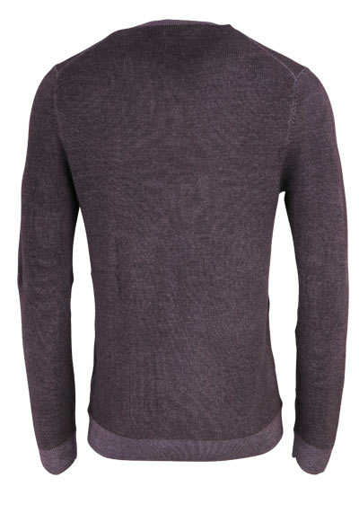 OLYMP Level Five Strick body fit Pullover Rundhals Struktur camel