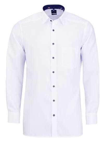 OLYMP Luxor modern fit Hemd Langarm Under Button Down Muster weiß - Hemden Meister